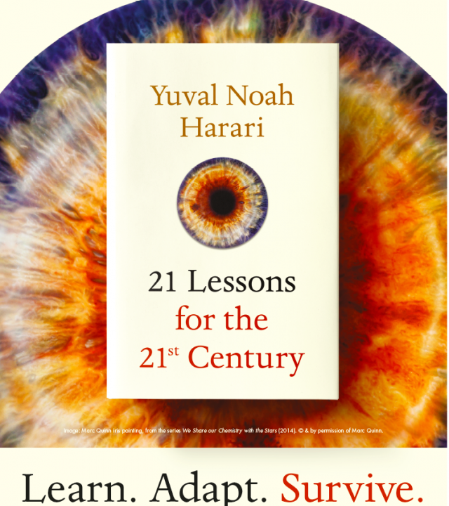 "Marc Quinn x Yuval Noah Harari ""21 Lessons for the 21st Century"" image"